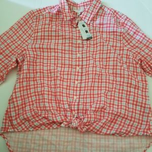 Time and tru button Front shirt, size L/G(12-14)